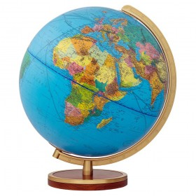 Globe terrestre lumineux Duplex pied en bois