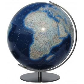 Globe terrestre Duo Azzurro pied en métal