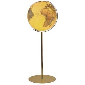 Globe terrestre Royal Ø40 cm avec pied en laiton 118 cm