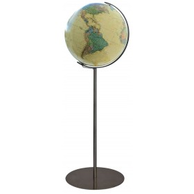 Globe terrestre Royal 40 cm avec pied en métal acier 118 cm
