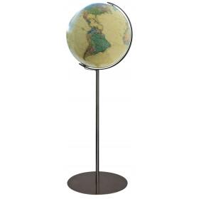 Globe terrestre Royal Ø40 cm avec pied en métal acier 118 cm