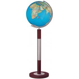 Globe Terrestre Duo 40 cm sur pied en laiton 118 cm