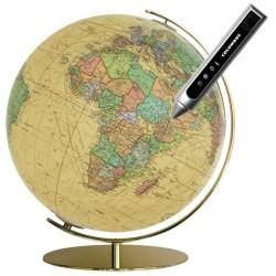 Globe Columbus Royal sur pied en laiton 40 cm