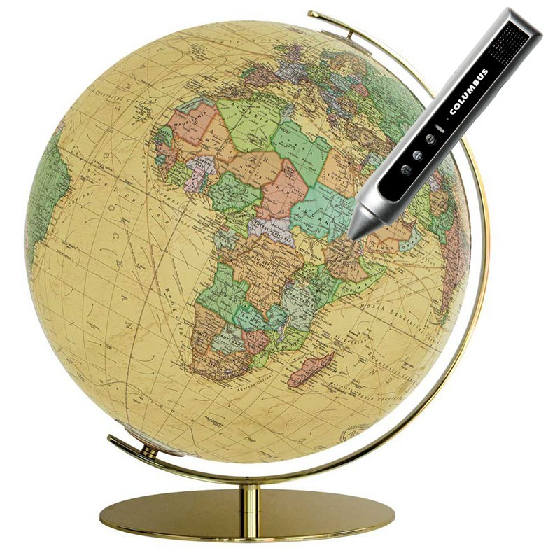 Globe Lumineux Royal avec pied en laiton
