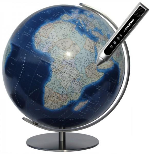 Globe Terrestre Columbus Duo Azzurro 40 cm avec pied en métal