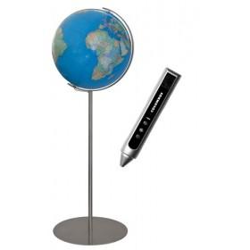 Globe terrestre sur pied en métal  de 118 cm
