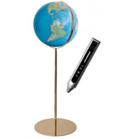 Globe design sur pied en metal 118 cm