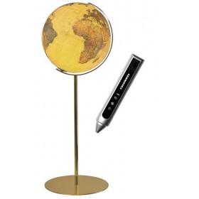 Globe Terrestre Royal 40 cm avec pied en laiton 118 cm