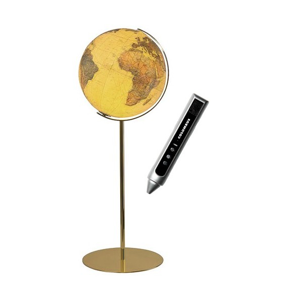 globe terrestre royal 40 cm avec pied en laiton 118 cm. Black Bedroom Furniture Sets. Home Design Ideas