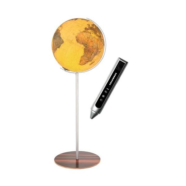 Globe Terrestre Royal 40 cm avec pied en bois 118 cm