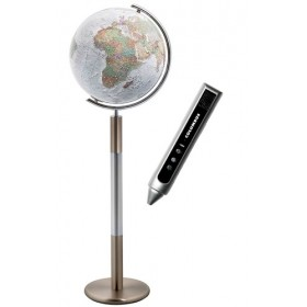 Globe terrestre lumineux sur pied Duo Alba Swarovski