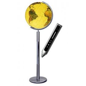 Globe Terrestre Royal 40 cm en cristal sur pied métal de 120 cm