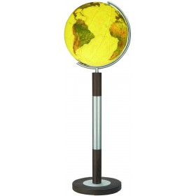 Globe terrestre Royal Ø40 cm en cristal sur pied en métal/bois 120 cm