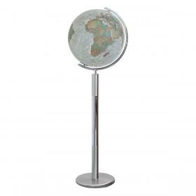Globe terrestre Duo Alba en cristal de 118 cm sur pied métal