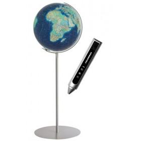 Globe Terrestre Duo Azzurro avec pied en métal de 118 cm