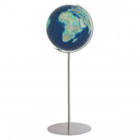 Globe terrestre Duo Azzurro Ø40 cm avec pied en métal de 118 cm