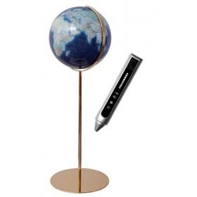 Globe Terrestre Duo Azzurro avec pied en métal (laiton) de 118 cm