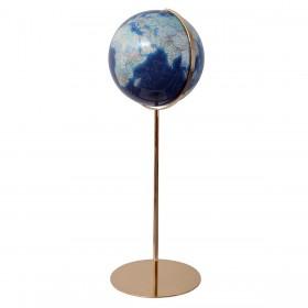 Globe terrestre Duo Azzurro Ø40 cm avec pied laiton