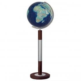 Globe terrestre Duo Azzurro en cristal de 120 cm