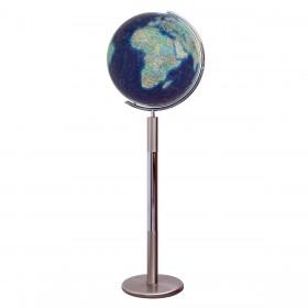 Globe terrestre Duo Azzurro en cristal sur pied de 120 cm