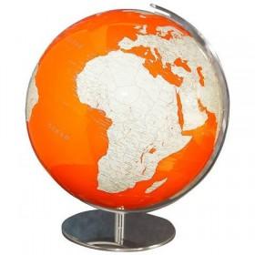 Globe lumineux orange Artline avec pierres précieuses Swarovski