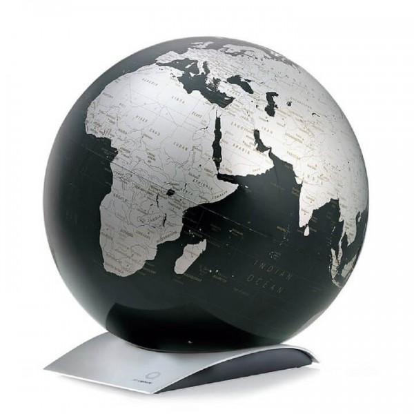 Globe noir Capital Q métallisé