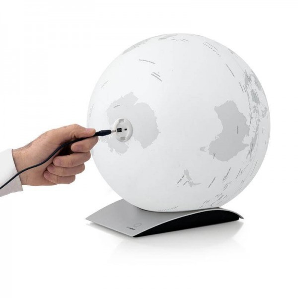 Globe blanc lumineux Capital Q à led