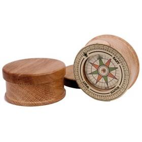 Boussole nautique en bois