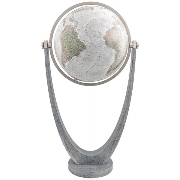Globe terrestre lumineux Duo Alba cristal