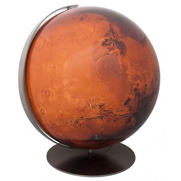 Globe mars lumineux Columbus 34 cm