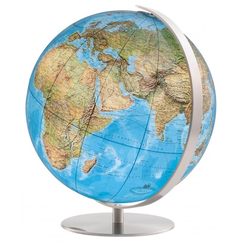 Globe Terrestre Duo 34 cm avec pied acier