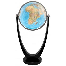 Globe cristal Duo avec pied noir