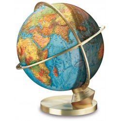 Globe terrestre Jour/Nuit Panorama 34 cm - pied en laiton