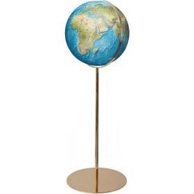 Globe Terrestre Duorama 40 cm avec pied en laiton 118 cm