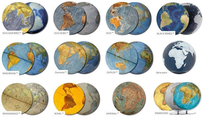 Cartographie globe Columbus