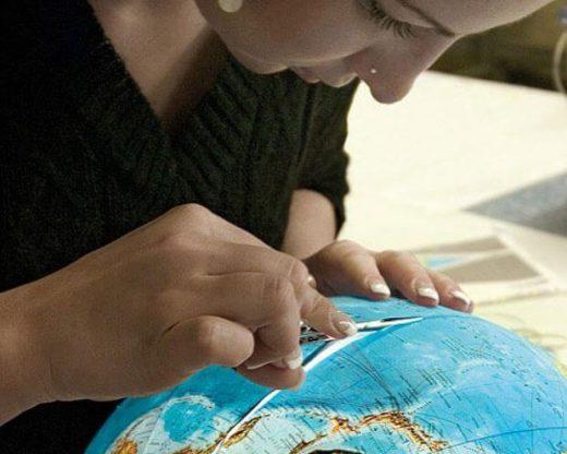 collage carte globe Columbus