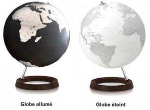 globe full circle reflexion